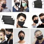 Черные медицинские маски: бывают угольные и анатомические